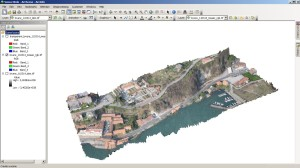 Point cloud of the surveyed area