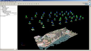 Survey positions and 3D point cloud definition