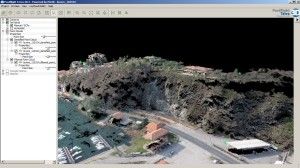 Rock side target of the study (detail of the 3D point cloud)