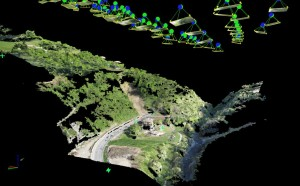 Restitution: survey point costellation and point cloud