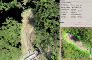 Landslide volume and surface definition