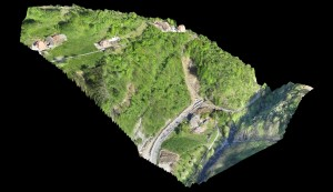 3D point cloud of the observed area